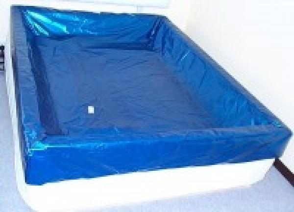 sicherheitswanne f r softside und hardside wasserbetten. Black Bedroom Furniture Sets. Home Design Ideas