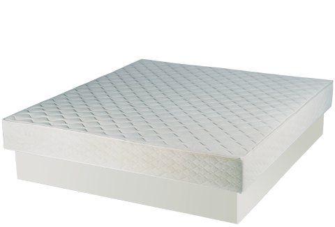 Softside Wasserbett Wassermatratze 160 x 200 cm und Podest Buche