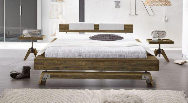 Design Holzbett Burgos Komplett