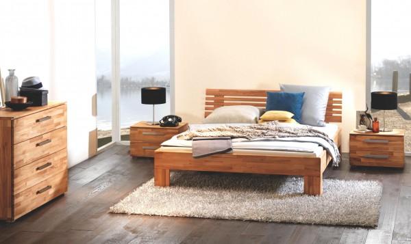 Wasserbett 90x200 komplett Wood Line Classic mit Litto Kopfteil